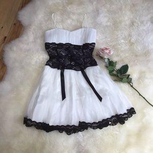 Debs black & white formal dress
